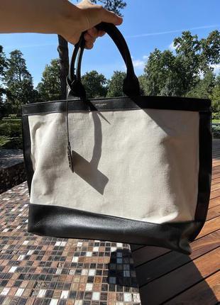 Оригинал сумка шоппер кожаная ysl saint laurent