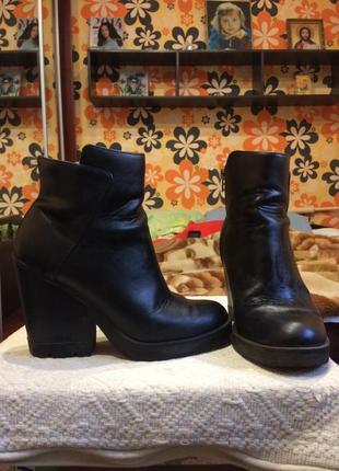 Короткие сапожки на каблуке