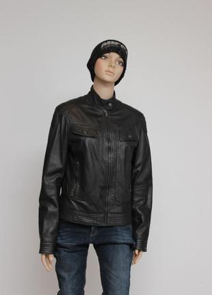 Кожанная куртка tommy hilfiger