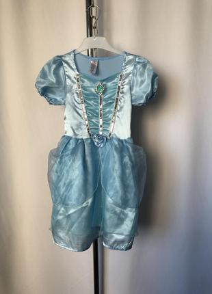 Платье принцессы голубое карнавал