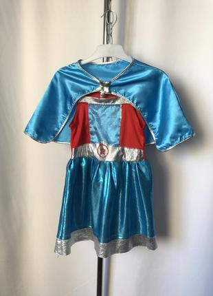 Карнавал платье с накидкой капитан америка