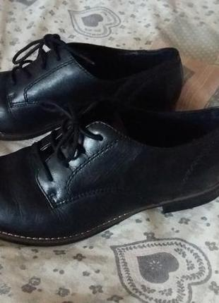 Фирменные туфли натуральная кожа