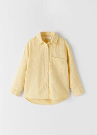 Рубашка на девочку zara 122см 128см