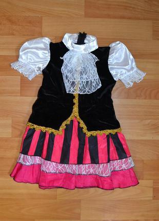 Карнавальный костюм пиратка на 1-1,5 года, платье пиратка