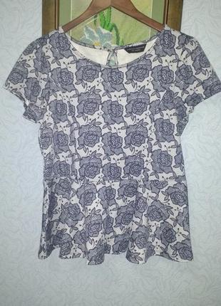 Блуза с баской dorothy perkins