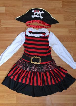 Карнавальный костюм пиратка на 4-5 лет
