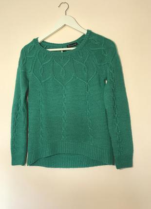 Вязаный свитер с удлинённым задом