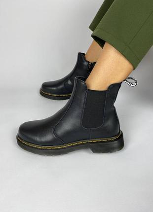 Женские ботинки черные классические