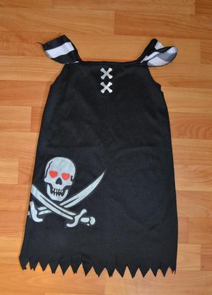 Карнавальный костюм пиратка примерно на 4-5 лет, платье пиратка