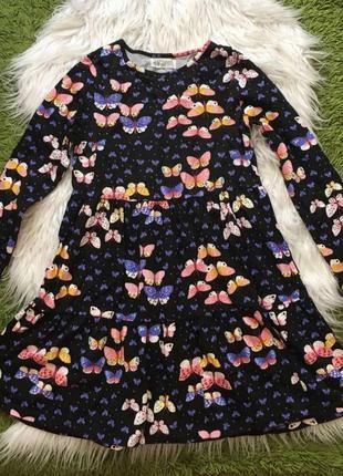 Платье бабочки h&m 8-10 лет 128 134 140 в идеале