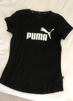 Женская футболка спортивная puma пума оригинал черная