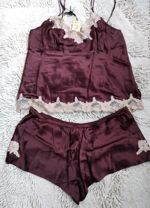 La senza 100% шелковая пижама комплект