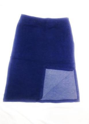 Миди юбка с разрезом denim