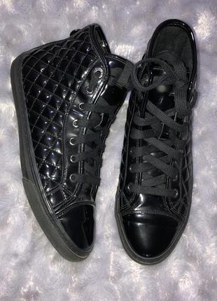 Лакированные ботинки geox. оригинал! 25,5