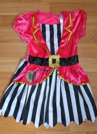 Карнавальный костюм пиратка на 1,5-2 года, платье пиратка