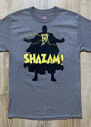 Мужская хлопковая футболка с принтом hanes shazam