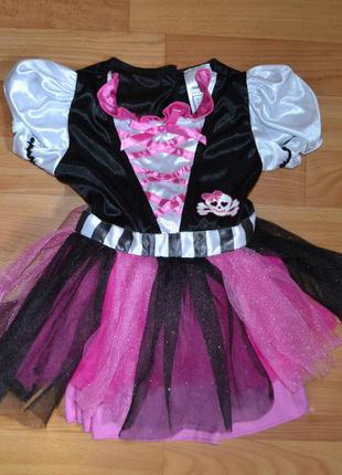 Карнавальный костюм пиратка на 3-4 года, платье пиратка