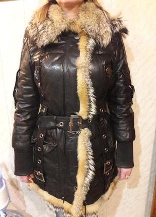 Зимний плащ, пальто, куртка с натуральным мехом