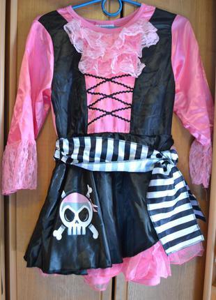 Карнавальный костюм пиратка примерно на 9-10 лет, 10-11 лет, 12 лет, платье пиратка