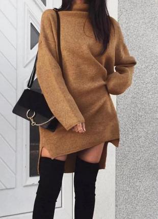 Женское зимнее платье на флисе