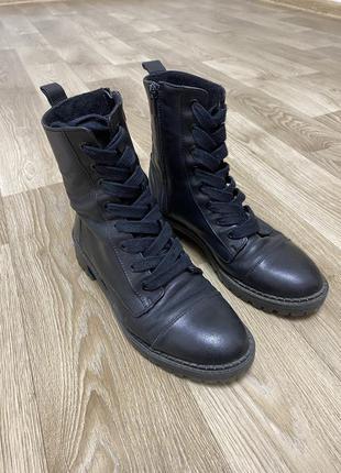 Ботинки bershka кожа