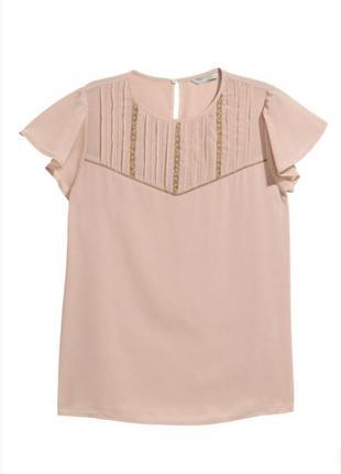 Блузка кофточка футболка рубашка майка пудра zara h&m bershka primark asos next