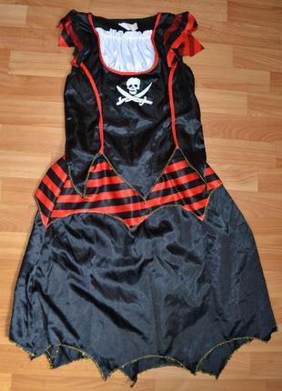 Карнавальный костюм пиратка на 10-11 лет, 11-12 лет, платье