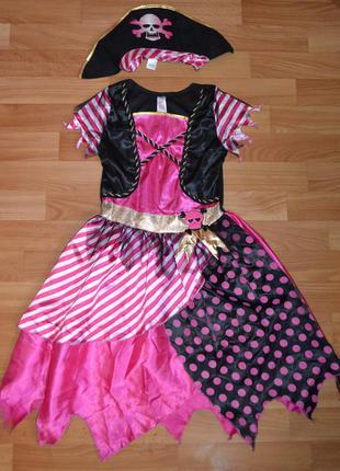 Карнавальный костюм пиратка на 8-9 лет, 9-10 лет, платье