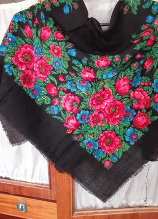 Старинный шерстяной платок