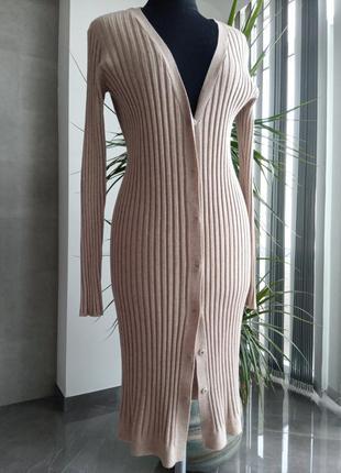 Платье - резинка на пуговицах/кардиган