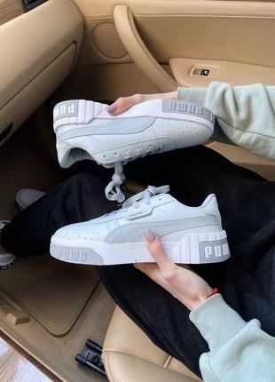Puma cali bold grey white