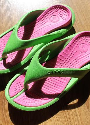 Унисекс вьетнамки сланцы шлепанцы пляжные crocs w8-m6 (38-39)