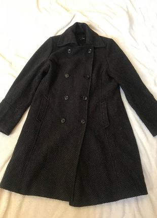 🆘🔥последняя цена до 30 сентября 🆘🔥  теплое плотное пальто в елочку осень зима