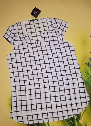 Новая блуза в клетку атмосфера р.xs-s