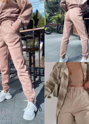 Утеплённые спортивные штаны, брюки на флисе