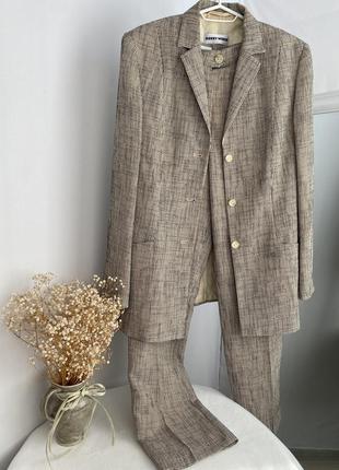 Вінтажний костюм в дрібну клітинку gerry weber