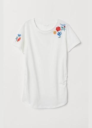 Женская футболка для беременных h&m mama оригинал размер l