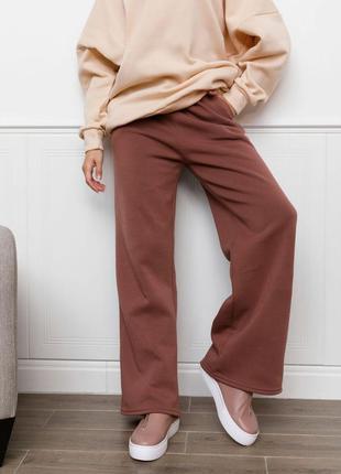 Теплі трикотажні штани