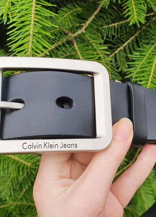Чоловічий шкіряний ремінь calvin klein