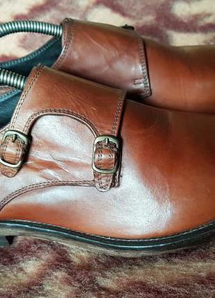 Мужские кожаные туфли италия монки