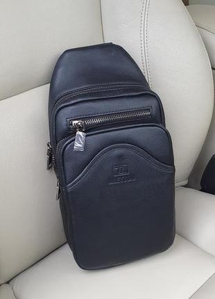 Чоловіча шкіряна сумка-рюкзак bretton premium якість