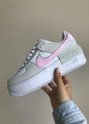 Кроссовки кеды nike air force shadow grey pink кросівки кеди