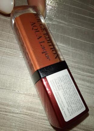 Жидкая помада для губ bourjois rouge edition aqua laque, 03 тон