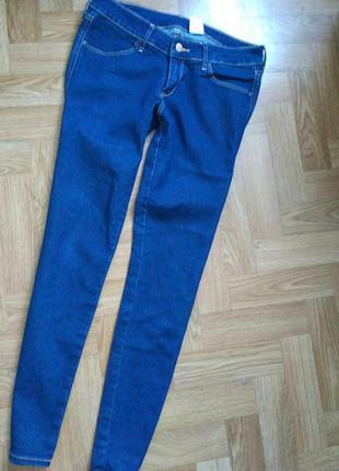 Женские плотные джинсы синие denim h&m