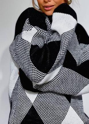 Женский шерстяной оверсайз джемпер свитер кофта