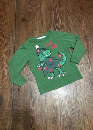 H&m 2-4года свитер кофта новогодний