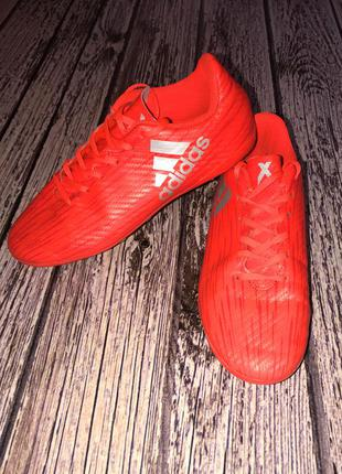 Кожаные бутсы adidas для мальчика , размер 36