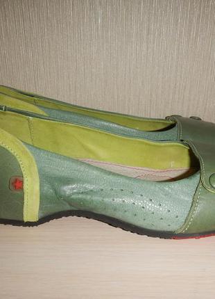 Кожаные туфли балетки cubanas р.36