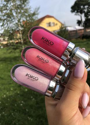 Блиск для губ kiko milano 3d hydra lip gloss