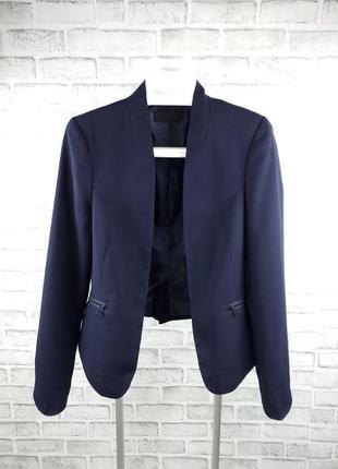 Открытый пиджак блейзер с карманами на молнии calvin klein jeans (xs)